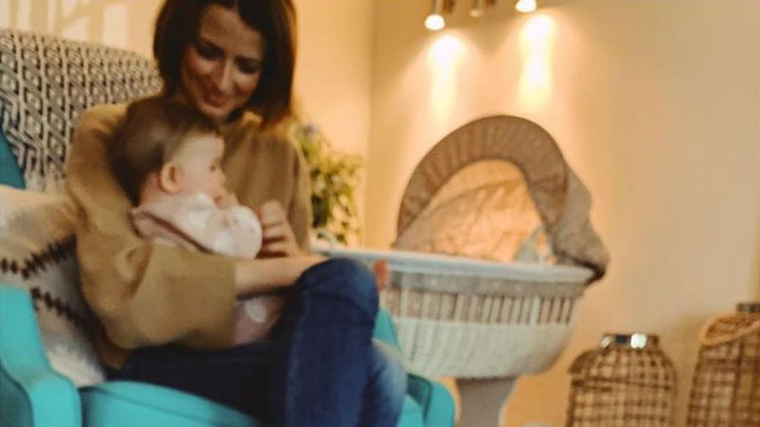 Eva Padberg und ihre Tochter im Oktober 2019