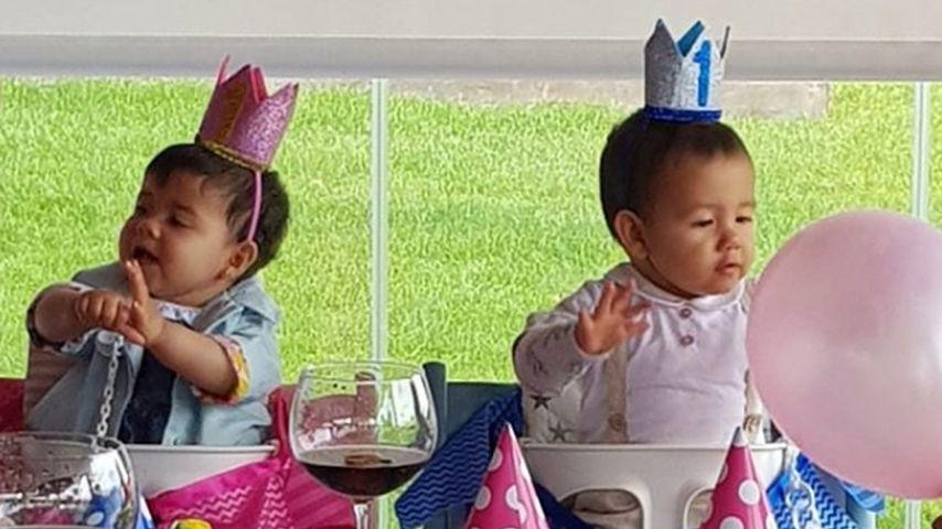 Eva und Mateo Ronaldo bei ihrer ersten Geburtstagsfeier