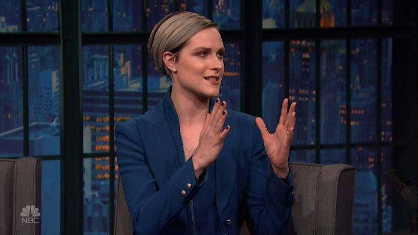 """Evan Rachel Wood in der Show """"Late Night with Seth Meyers"""""""