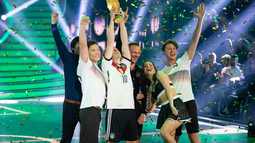 Evgeny Vinokurov, Oliver Pocher, Christina Luft und Valentin Lusin