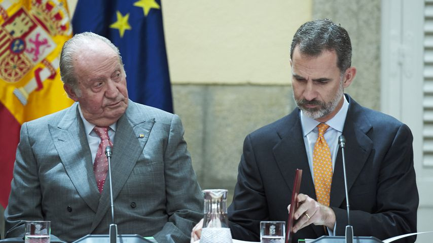 Ex-König Juan Carlos I. und König Felipe VI