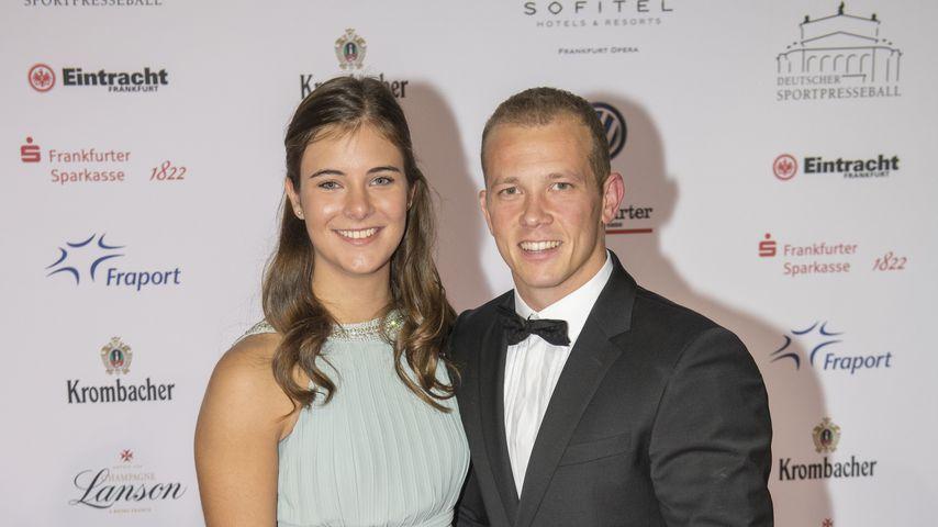 Fabian Hambüchen und seine Freundin Nina beim Sportpresseball