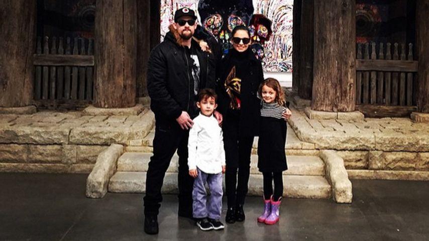 Joel Madden und Nicole Richie mit ihren beiden Kindern