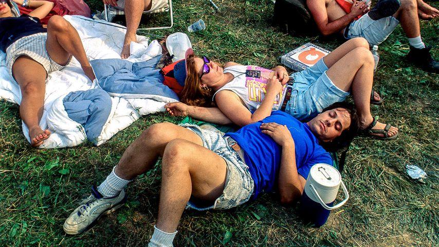 Fans beim Woodstock-Festival 1994 in Saugerties