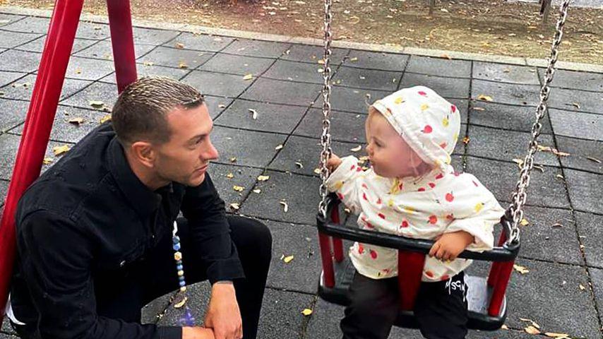 Federico Bernardeschi mit seiner Tochter Lena