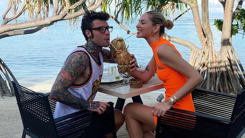 Fedez und Chiara Ferragni in Französisch-Polynesien im April 2019