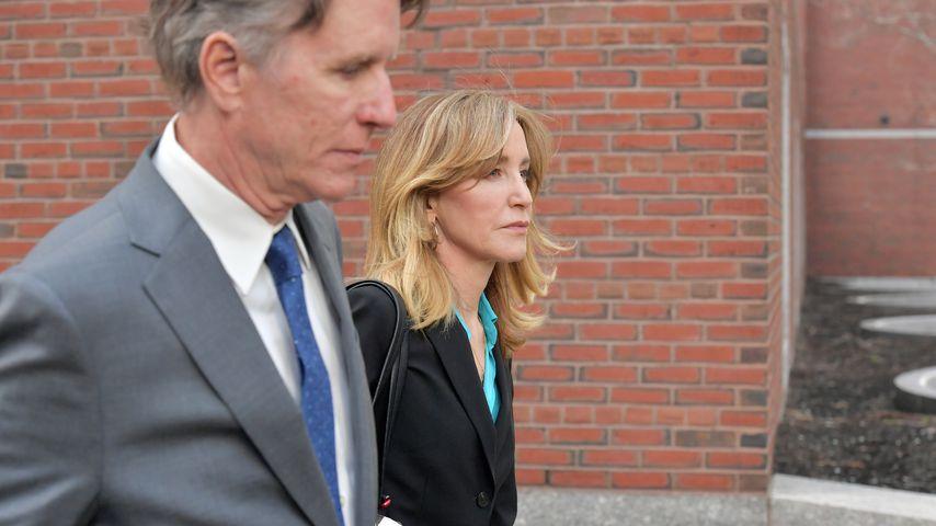 Felicity Huffman im April 2019 in Boston