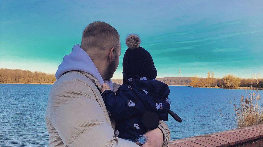 Felix van Deventer mit seinem Sohn