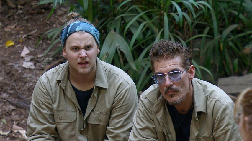 Felix van Deventer und Chris Töpperwien im Dschungelcamp