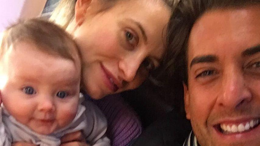 Ferne McCann, ihre Tochter Sunday und James Argent im Mai 2018