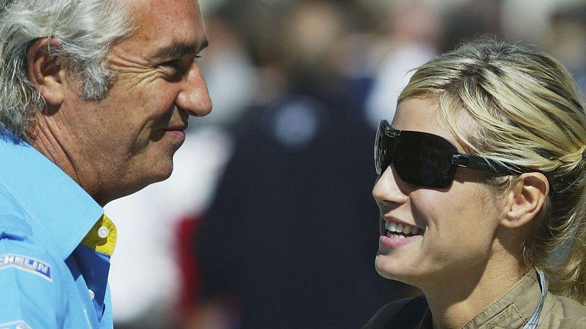 Flavio Briatore und Heidi Klum im September 2003