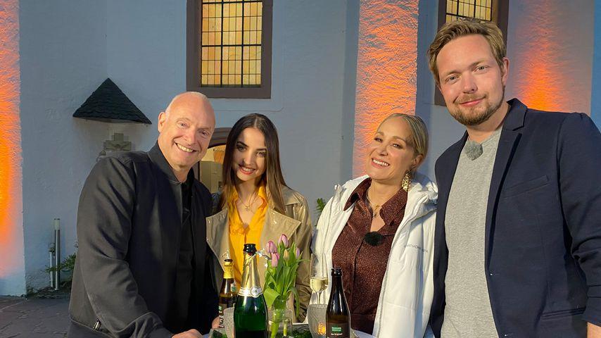 "Frank Buschmann, Ekatarina Leonova, Janine Kunze, Bastian Bielendorfer beim ""Wunschmenü der Stars"""
