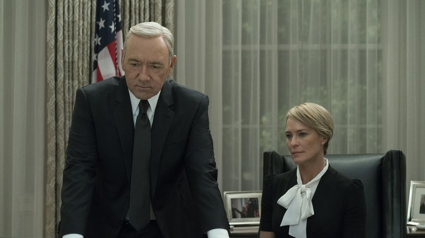 "Kevin Spacey (Frank Underwood) und Robin Wright (Claire Underwood) bei ""House of Cards"""
