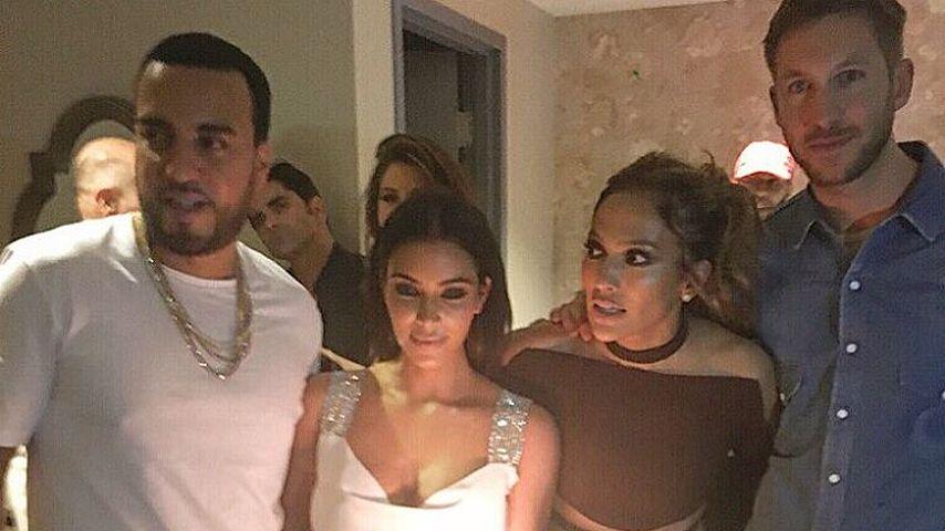 French Montana, Kim Kardashian, J.Lo und Calvin Harris