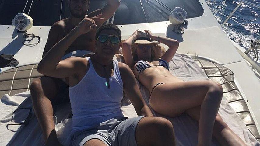 French Montana und Iggy Azalea auf einer Yacht in der Karibik