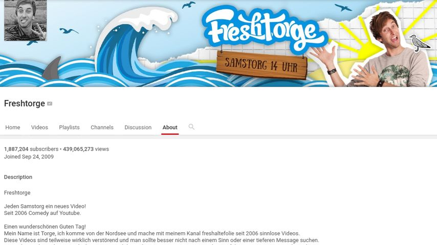 Freshtorges YouTube-Channel