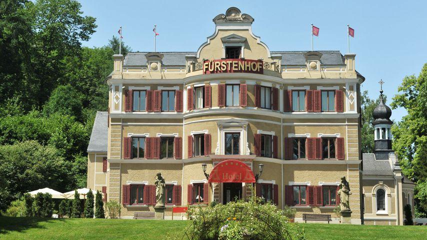 """Fünf-Sterne-Hotel Fürstenhof, Drehort von """"Sturm der Liebe"""""""