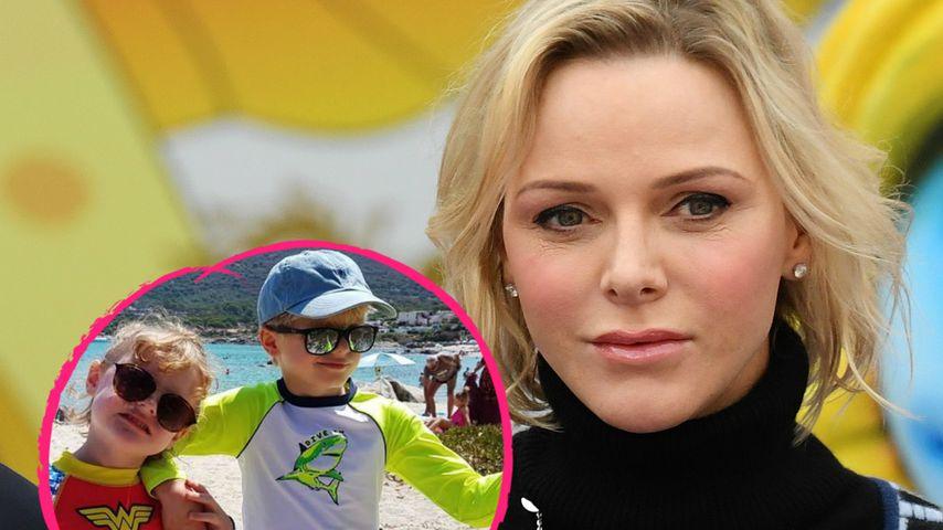 Fürstin Charlène teilt Urlaubsschnappschuss ihrer Zwillinge