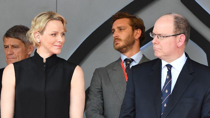 Fürstin Charlène und Prinz Albert beim Formel 1 Grand Prix in Monaco