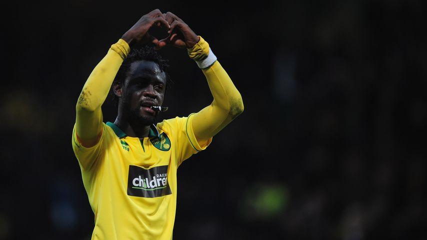 Fußball-Star Kei Kamara noch im Trikot von Norwich City im Februar 2013