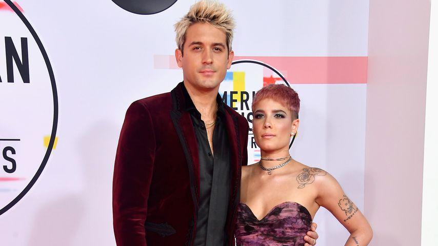 G-Eazy und Halsey bei den 2018 American Music Awards in Los Angeles