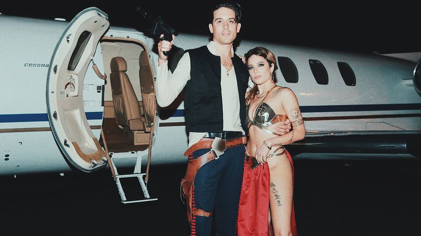 G-Eazy und Halsey an Halloween 2017
