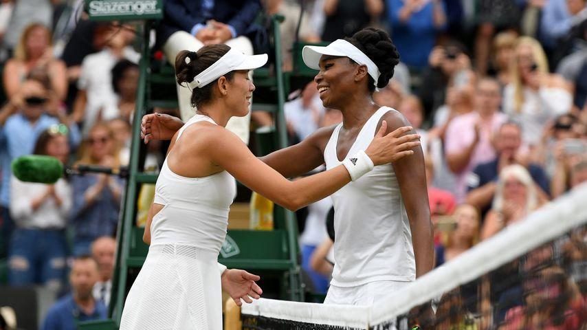 Garbine Muguruza und Venus Williams beim Wimbledon-Finale 2017
