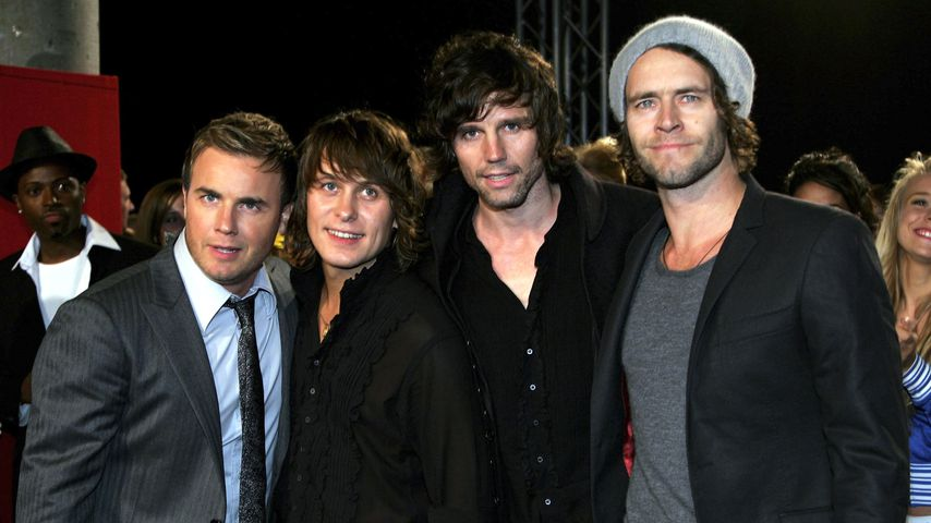 Gary Barlow, Mark Owen, Jason Orange und Howard Donald von Take That