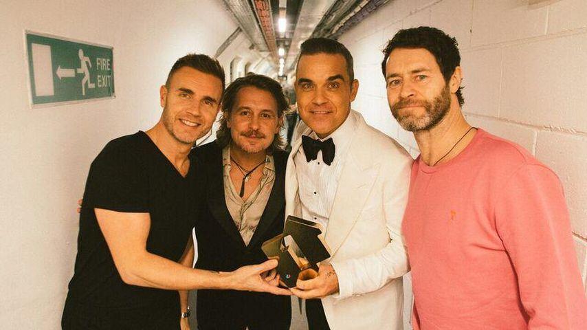 Gary Barlow, Mark Owen, Robbie Williams und Howard Donald