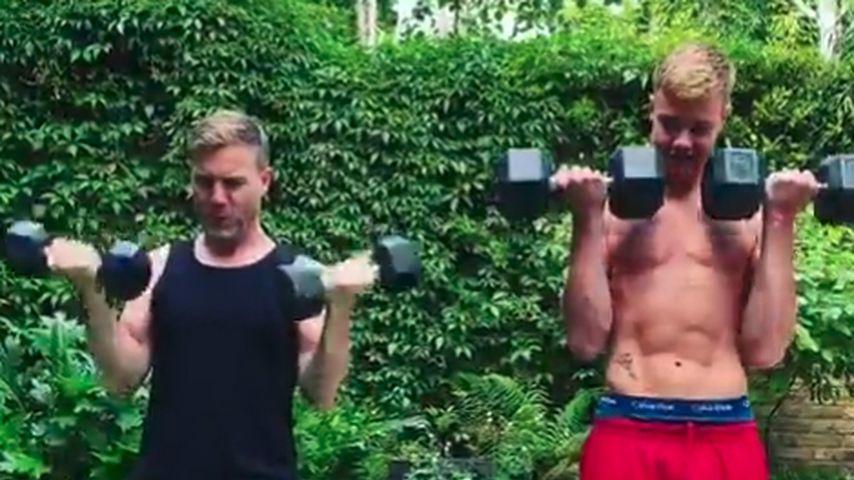 Gary Barlow mit seinem Sohn Daniel