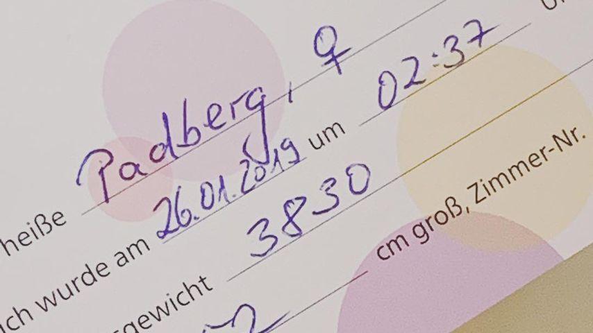 Geburtsschein von Eva Padbergs Tochter