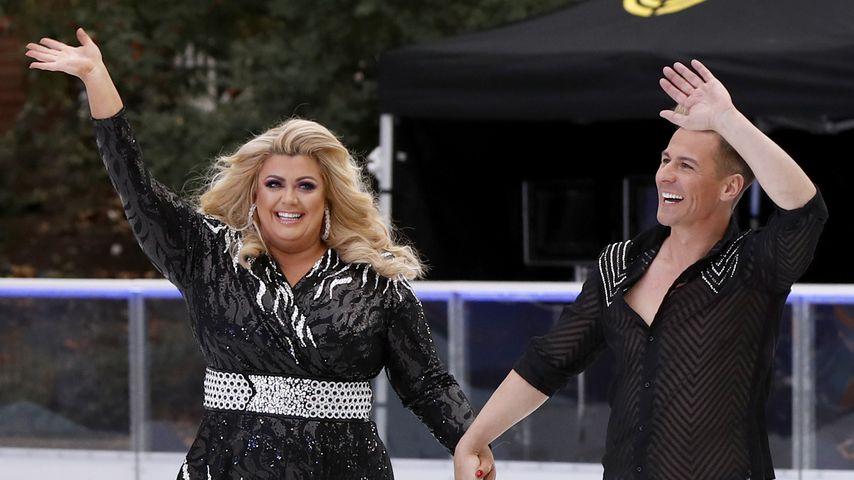 """Gemma Collins und Matt Evers beim Photocall für """"Dancing on Ice"""""""