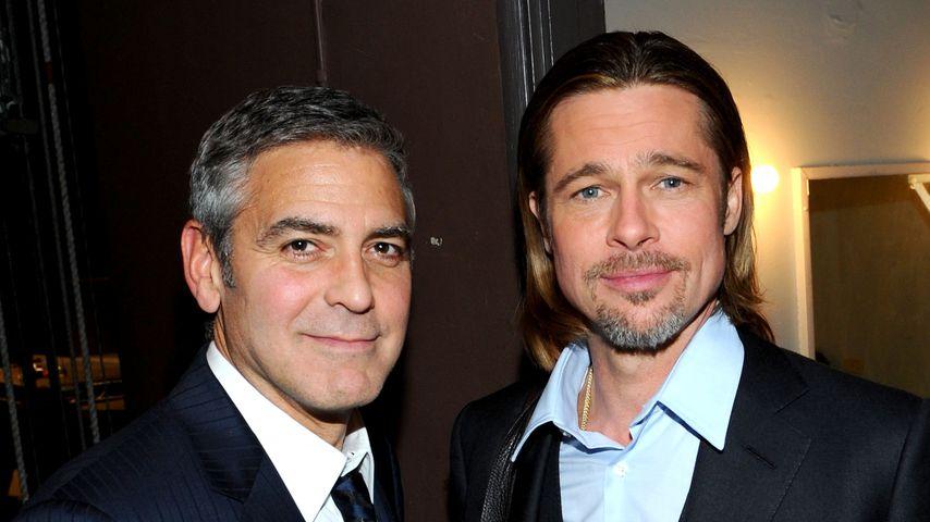 George Clooney und Brad Pitt bei einem Event in Los Angeles, 2012