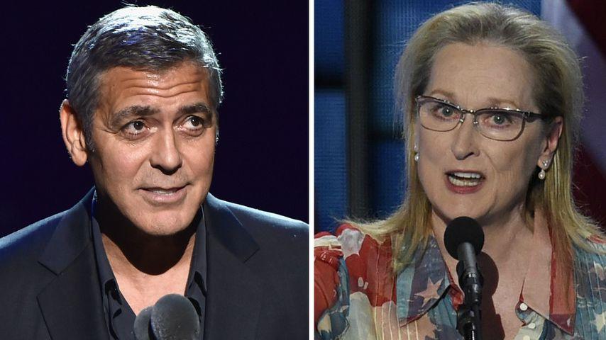 Nach Trump-Attacke: George Clooney unterstützt Meryl Streep!