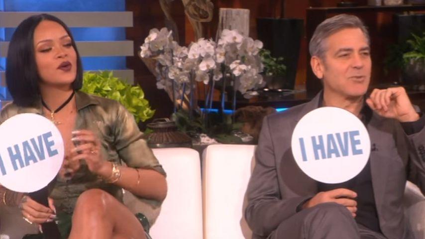 Skurril! Rihanna & George Clooney verraten nackte Tatsachen