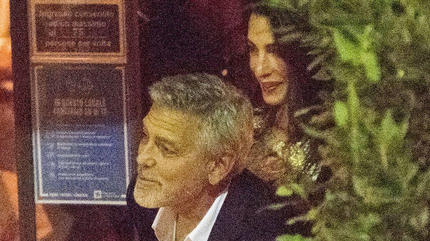 George und Amal Clooney bei einem Restaurantbesuch am Comer See, Juli 2021