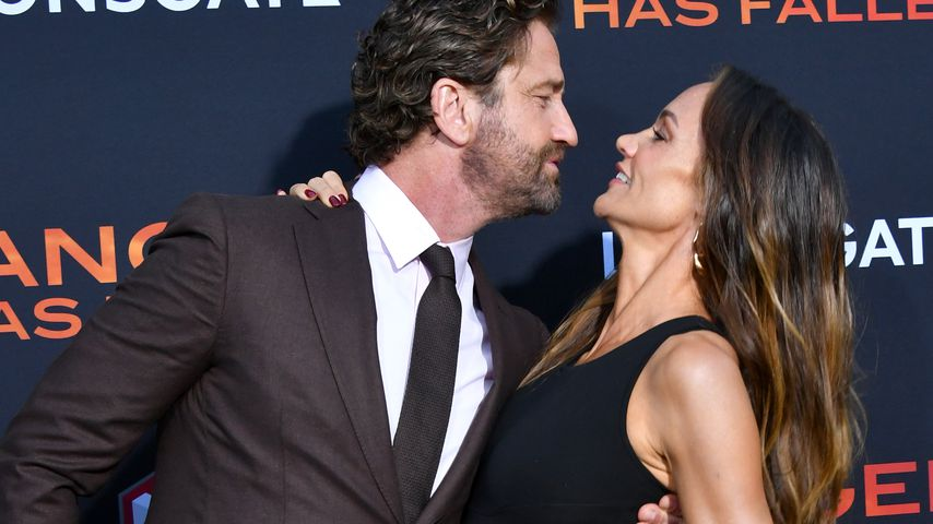 "Gerard Butler und Morgan Brown bei der ""Angel Has Fallen""-Premiere in Los Angeles"