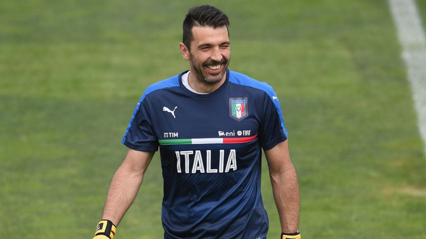 Gianluigi Buffon beim Training in Florenz