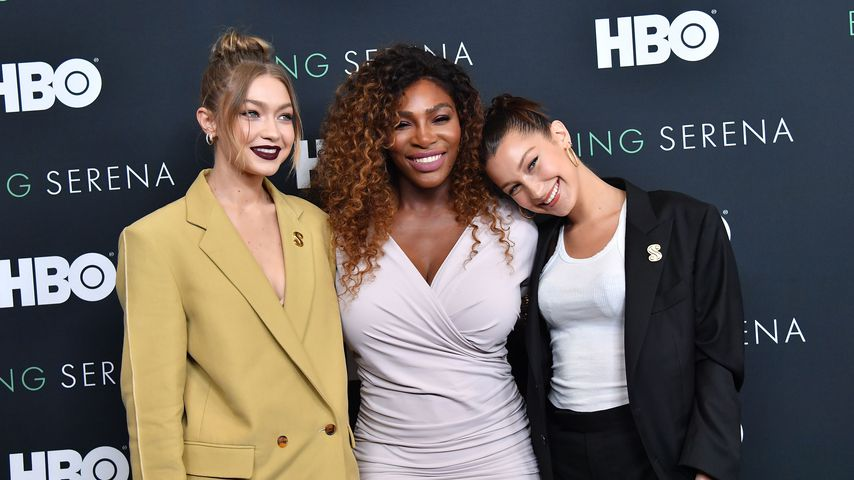 "Gigi Hadid, Serena Williams and Bella Hadid bei der US-Premiere von ""Being Serena"""