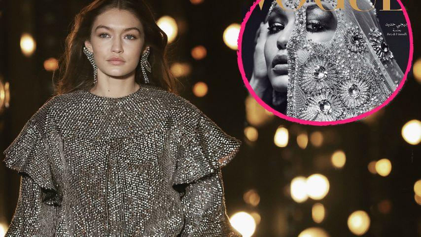 Kontrovers: Gigi Hadid erntet Kritik für ihr Kopftuch-Cover