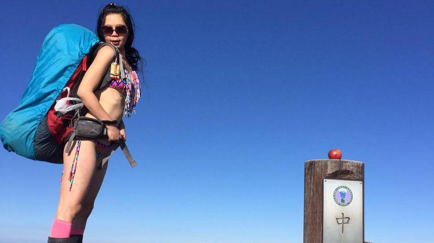 Bikini Bergsteigerin