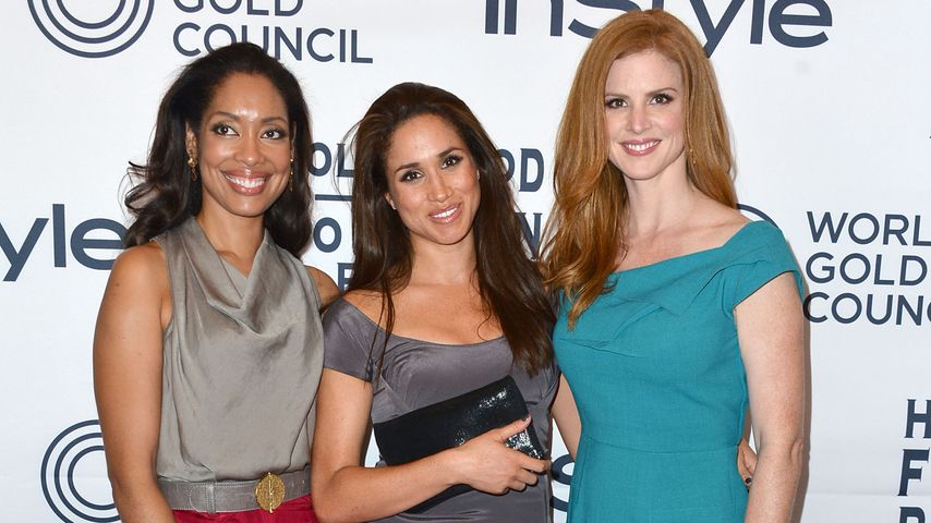 "Gina Torres, Meghan Markle und Sarah Rafferty, ""Suits""-Darstellerinnen"
