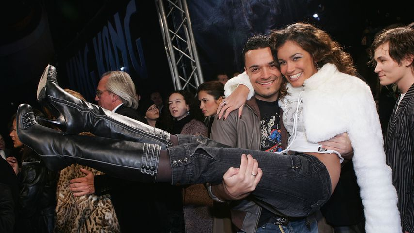 """Giovanni und Jana Ina Zarrella 2005 bei der """"King Kong""""-Premiere in Berlin"""
