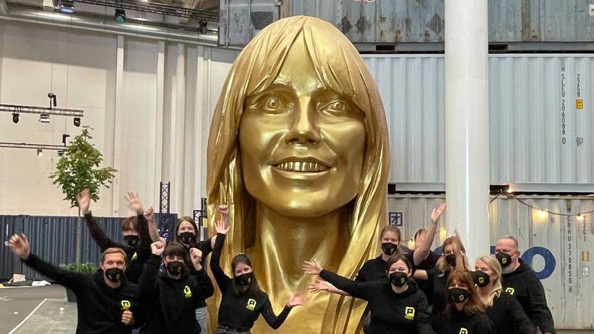 Spooky oder cool? Heidi Klum zeigt Statue von sich selbst