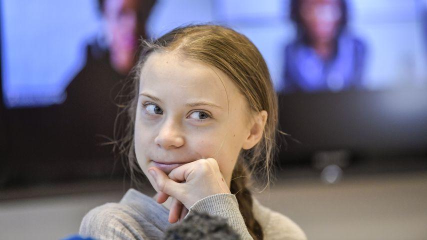 Greta Thunberg bei einer Pressekonferenz in Stockholm im Januar 2020