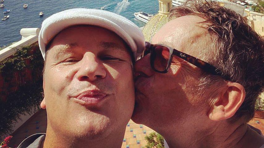 Selten: Guido Maria Kretschmer teilt Urlaubsbild mit Ehemann