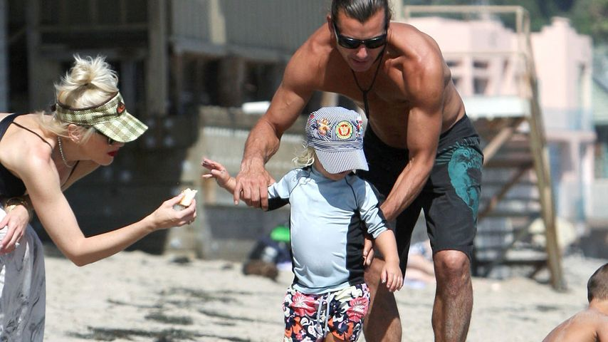 Gwen Stefani mit Kind und Kegel am Strand
