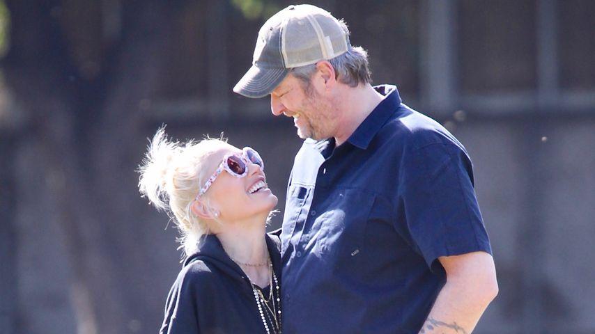 Total verschmust: Gwen Stefani und ihr Blake turteln im Park