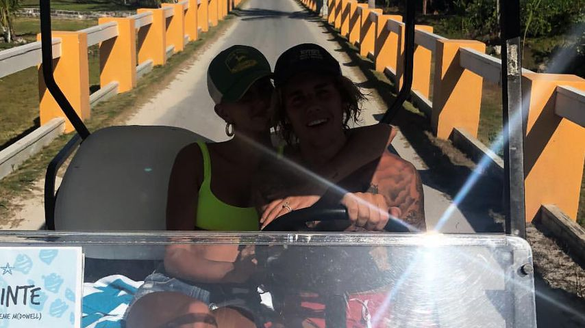 Hailey und Justin Bieber im Juli 2018 auf den Bahamas