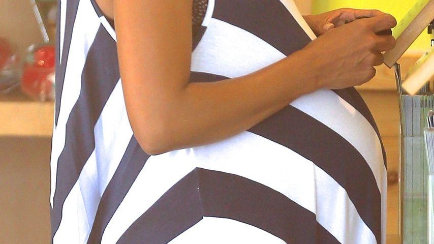 Kurz vor Geburt: Halle Berrys riesige Baby-Kugel